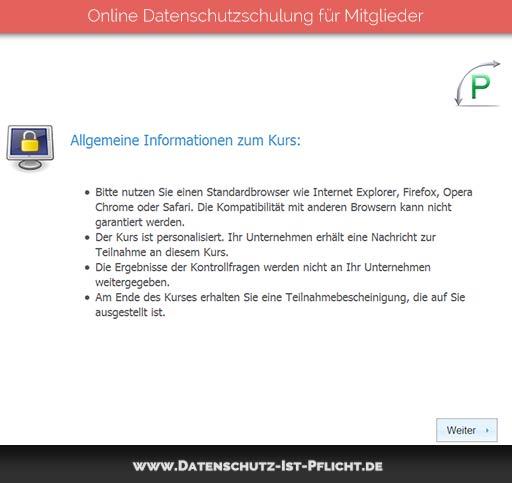 Datenschutzschulung | Vorschau | 01