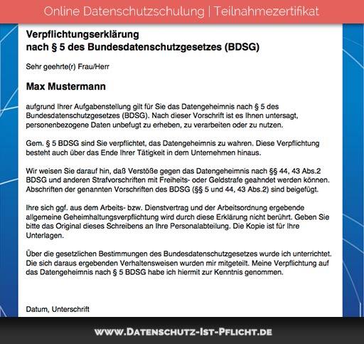 Datenschutzschulung Zertifikat | Vorschau | Bild 02