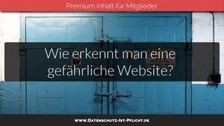 Wie erkennt man eine gefährliche Website?