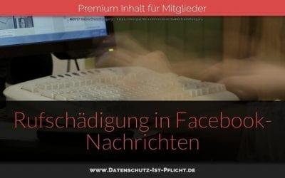 Rufschädigung in Facebook-Nachrichten