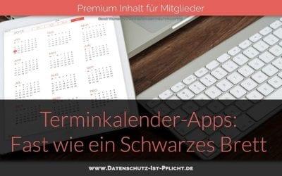 Terminkalender-Apps: Fast wie ein Schwarzes Brett